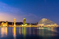 Kobe port tower sunset