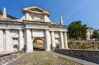 Porta San Giacomo in Bergamo Lombardy Italy