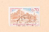 FRANCE - CIRCA 1967: A stamp printed in France shows Saint-Germain-en-Laye, circa 1967
