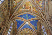 ceiling fresco, Basilica San Francesco, Assisi, Italy, Europe
