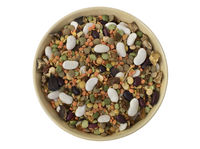 Dried Legumes Soup Mix in a bowl.