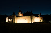 Aigle, VD / Switzerland - 31 May 2019: the historic castle at Aigle in the Swiss canton of Vaud at n