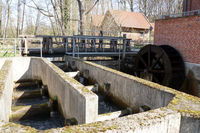 Fish ladder and mill wheel - historic Woltersburger mill on the Wipperau