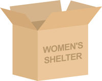 Womens Shelter Charity Box Vector