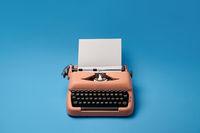 Retro typewriter in studio