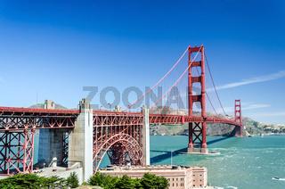 Stunning view of the Golden Gate Bridge in San Francisco