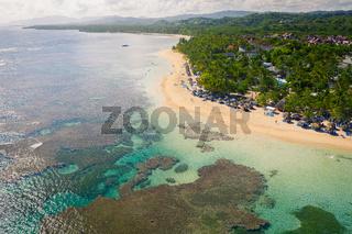 Top view of bahia beach