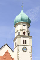 Church tower of St. Georg, Wasserburg, Bodensee