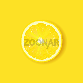 Lemon Isolated Yellow Background