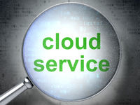 Cloud networking concept: Cloud Service with optical glass
