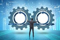 Businessman in agile methods concept