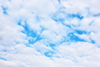 Cloudness - Blue sky with white clouds