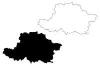 Arad County (Administrative divisions of Romania, Vest development region) map vector illustration, scribble sketch Arad map
