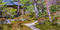 Ginkakuji Silver Pavilion Garden, Kyoto, Japan