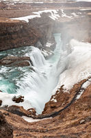 Gullfoss waterfall in Iceland
