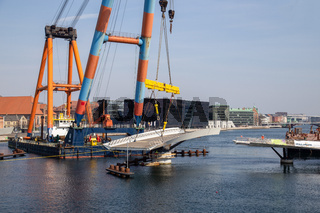 Massive Floating Crane in Copenhagen Harbour