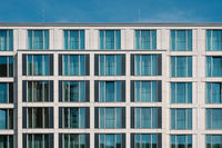 window facade of modern hotel  building  -real estate exterior,