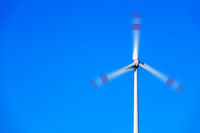 wind energy detail blue sky