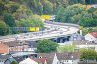 aerial view of the federal road at Siegen Germany