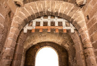 Isolated Fortress Archway With Portcullis