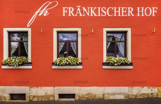 Façade detail of an Upper Franconian restaurant
