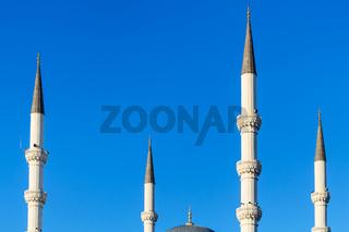 minarets of Kocatepe Mosque in Ankara city