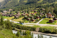 Alpine village Zinal in summer