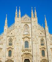 Milan Cathedral close-up. Italy