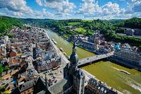 Aerial view of Dinant town, Belgium