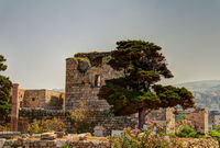 Ruins of crusaders fort in Byblos, Jubayl, Lebanon