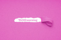 Weltfrauentag is German for World Women's Day