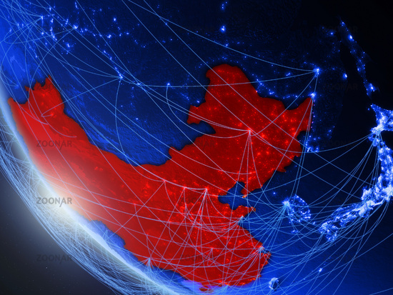 China from space with network