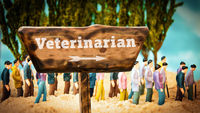 Street Sign to Veterinarian