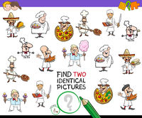 find two identical chef characters game for kids