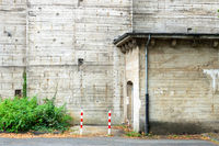 old concrete building at Siegen Germany