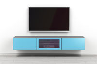 Wall mounted tv cabinet and big tv