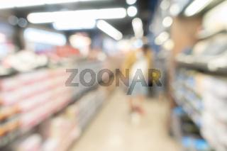 Blurred background : Supermarket Phamacy