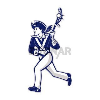 Female Patriot Lacrosse Player Mascot