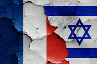 flags of France and Israel