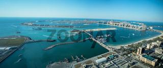 Panoramablick auf Palm Island, Dubai