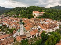 Medieval Castle in old town of Skofja Loka, Slovenia