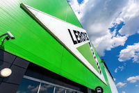 Leroy Merlin brand sign against blue sky