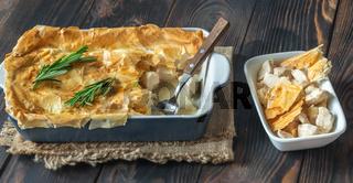 Chicken pie with philo