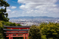 View over Kyoto from Fushimi Inari Shrine