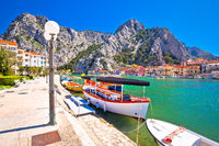 Cetina river mouth intown of Omis view