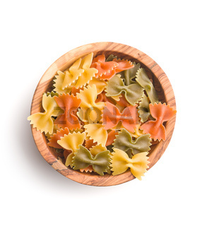 Farfalle pasta. Colorful italian pasta.