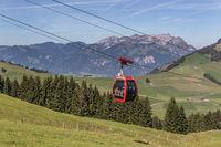 Cable car Gummenalp, Nidwalden, Switzerland, Europe