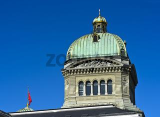 Hauptkuppel, Bundeshaus, Sitz von Regierung und Parlament der Schweiz, Bern, Schweiz