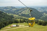 Cable car gondola on the Hochgrat