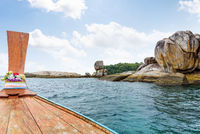 Ko Hin Sorn island and prow in Thailand